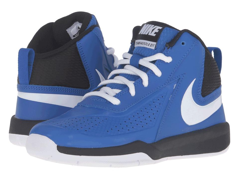 Nike Kids Team Hustle D 7 (Little Kid) (Game Royal/Black/White) Boys Shoes