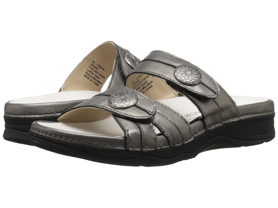 Drew Ariana Pewter Leather Womens Sandals