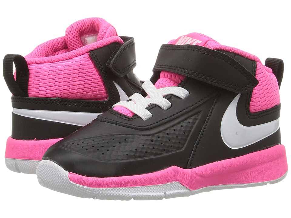 Nike Kids Team Hustle D 7 (Infant/Toddler) (Black/Hyper Pink/White) Girls Shoes