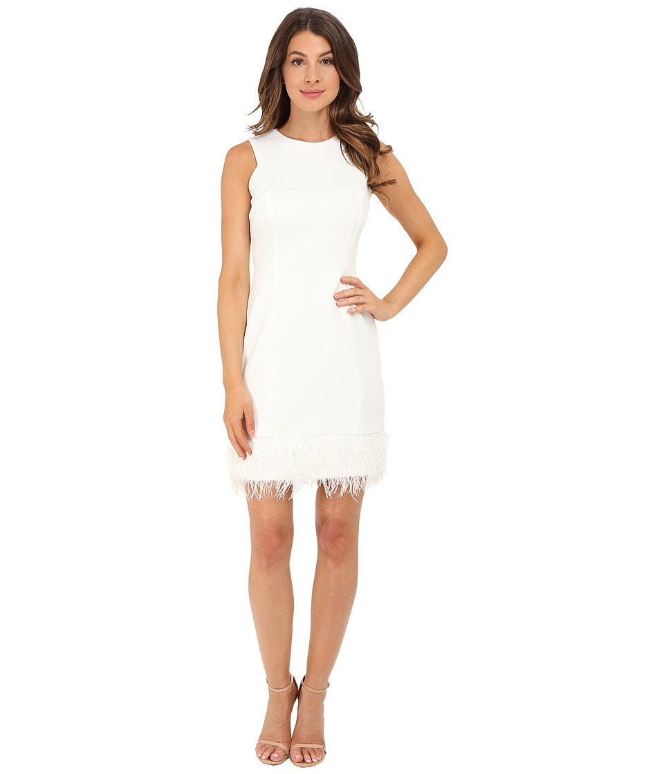 rsvp Anna Feather Trim Dress Ivory Womens Dress