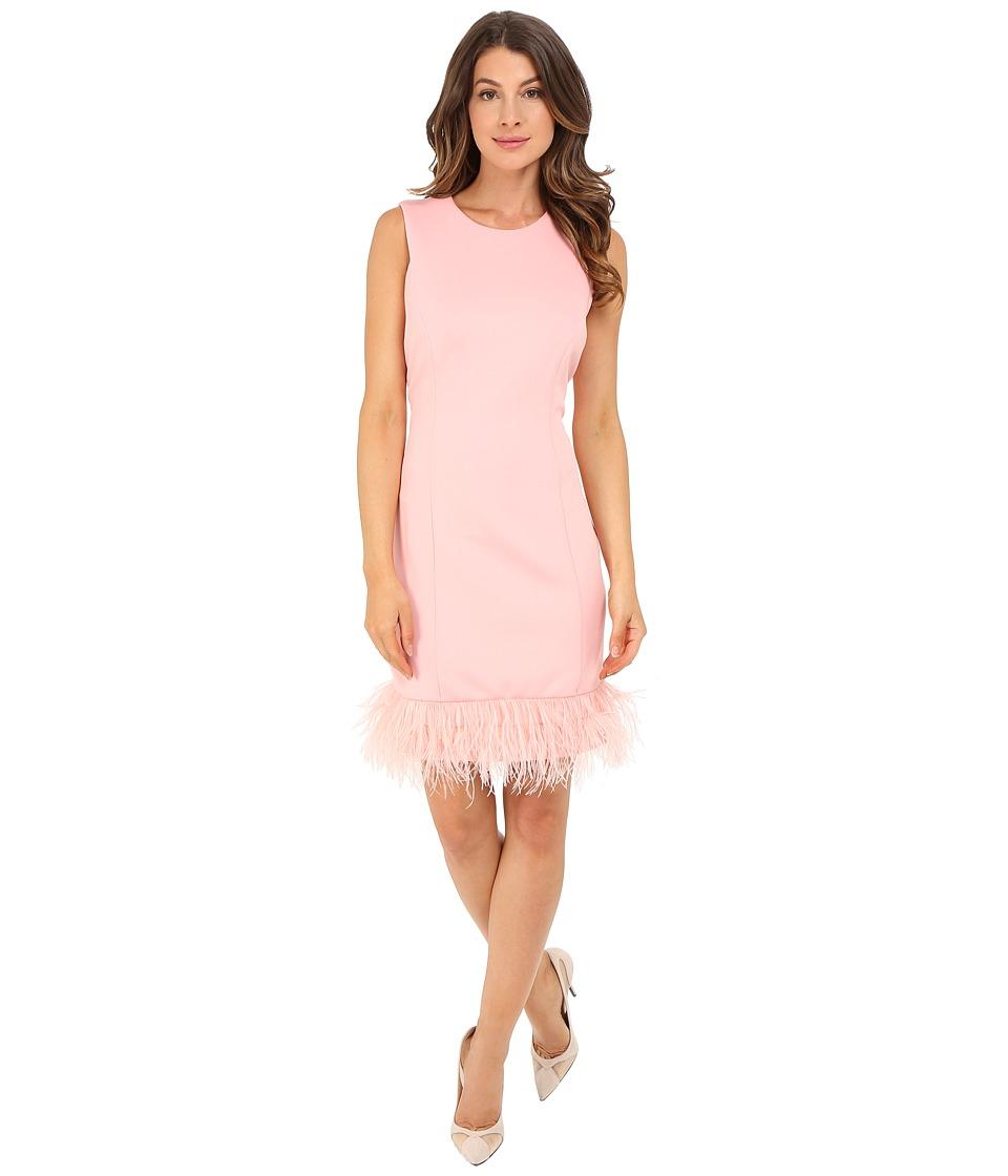 rsvp Anna Feather Trim Dress Pink Womens Dress