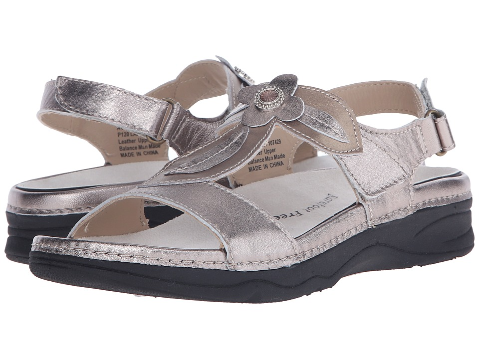 Drew Alana Pewter/Bronze Leather Womens Sandals
