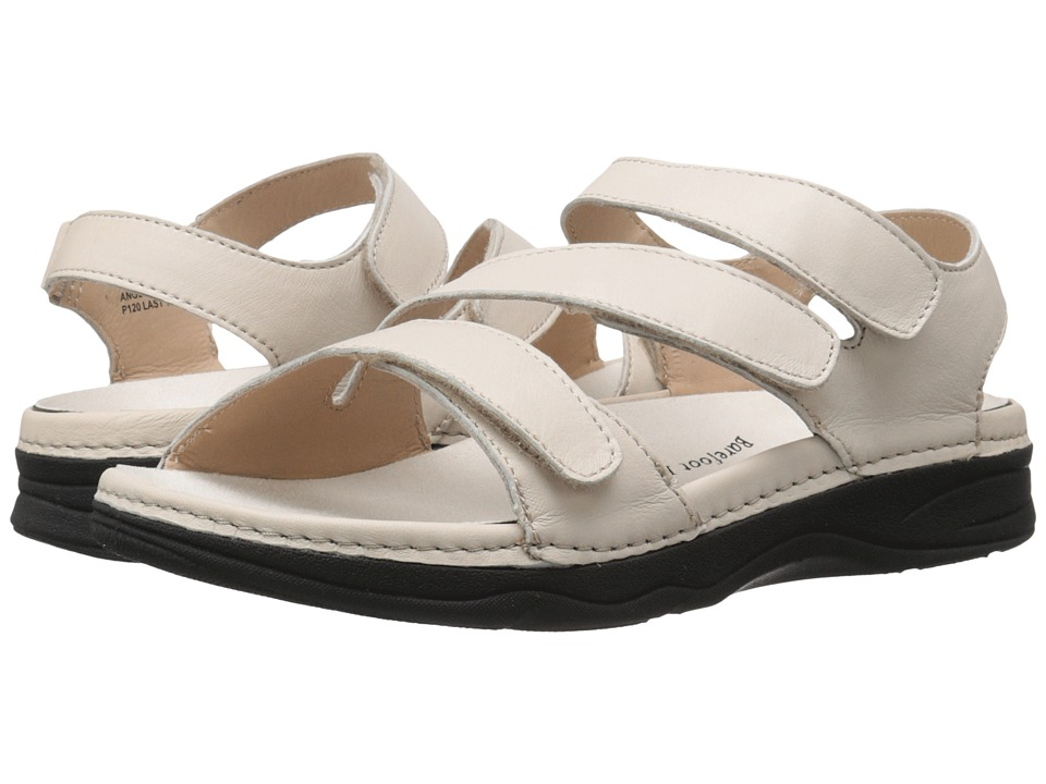 Drew Angela Bone Smooth Leather Womens Sandals
