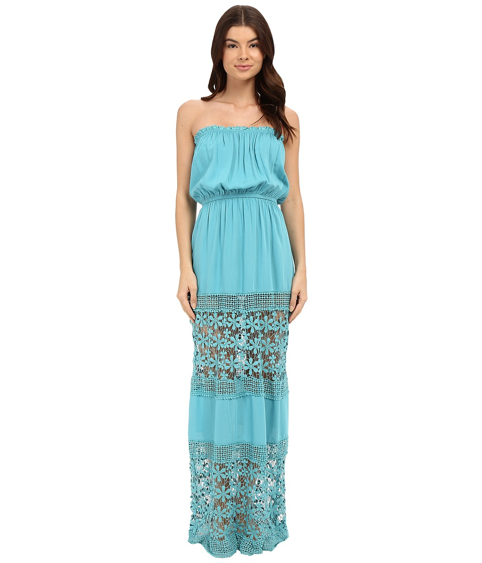 6 Shore Road by Pooja Charlotte Maxi Dress Cover Up Blue Piscina Womens Swimwear