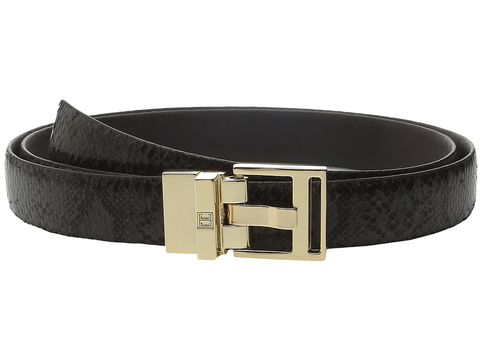 Ivanka Trump 25mm Reversible Python To Smooth Belt Black Womens Belts