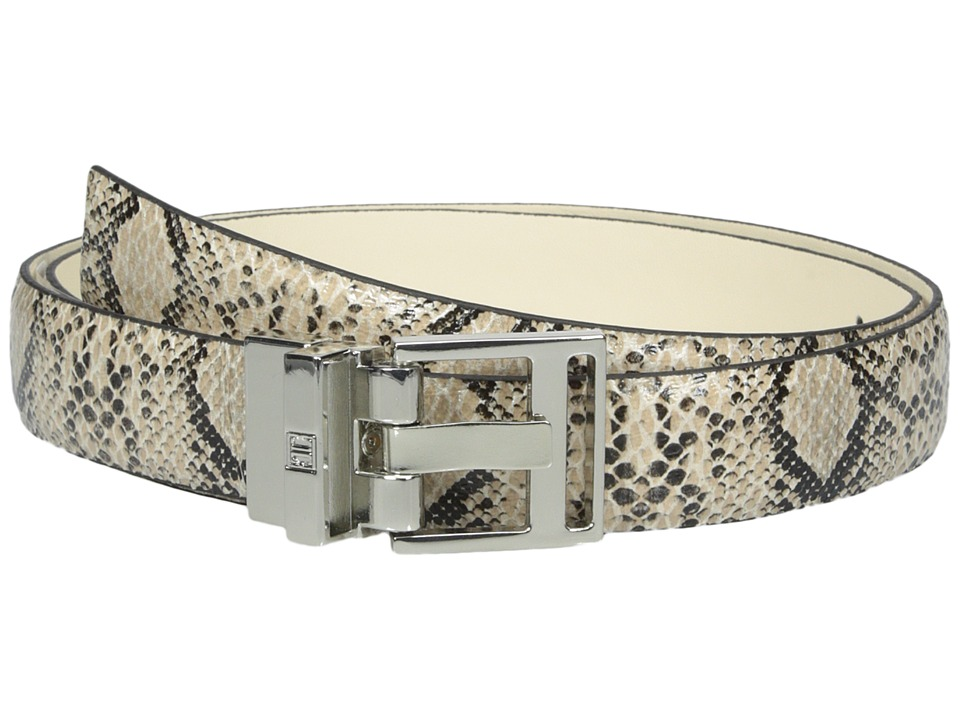 Ivanka Trump 25mm Reversible Python To Smooth Belt Cream Womens Belts