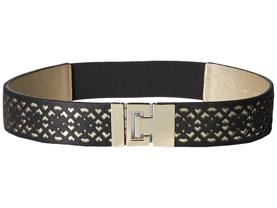 Ivanka Trump 42mm Stretch Belt with Peekaboo Perf Black Womens Belts