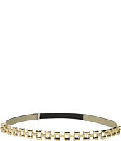 Ivanka Trump - 15mm Glazed Belt with Chain Front and Stretch Back