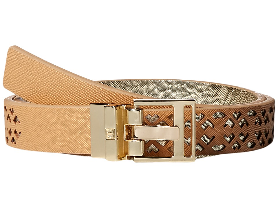 Ivanka Trump 25mm Reversible Peekaboo Perf Belt Natural Womens Belts