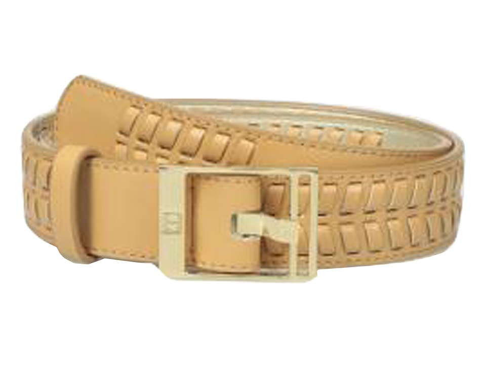 Ivanka Trump 32mm Belt with Lacing Detail Natural Womens Belts