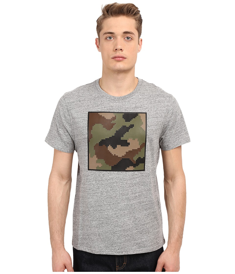 Mostly Heard Rarely Seen Nanoblock Camo Tee Heather Grey Mens T Shirt