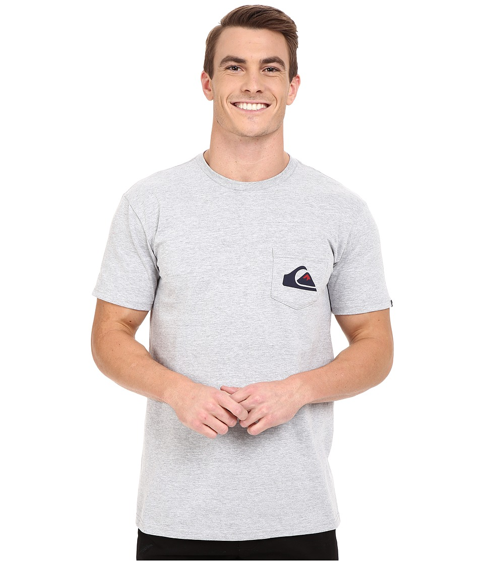 Quiksilver Everyday Logo Tees Athletic Heather Mens T Shirt