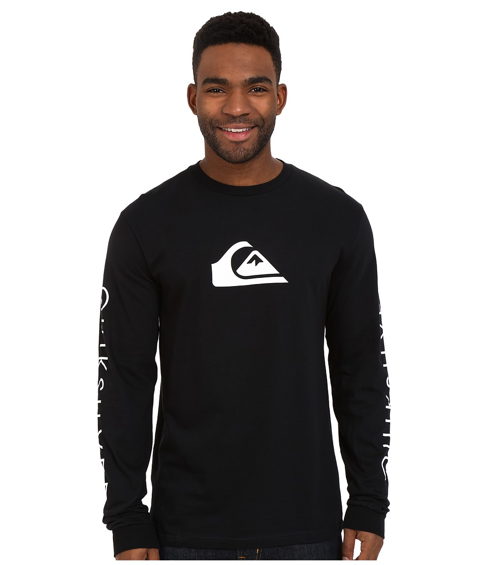 Quiksilver Everyday Mountain Wave Long Sleeve Tees Black Mens Long Sleeve Pullover