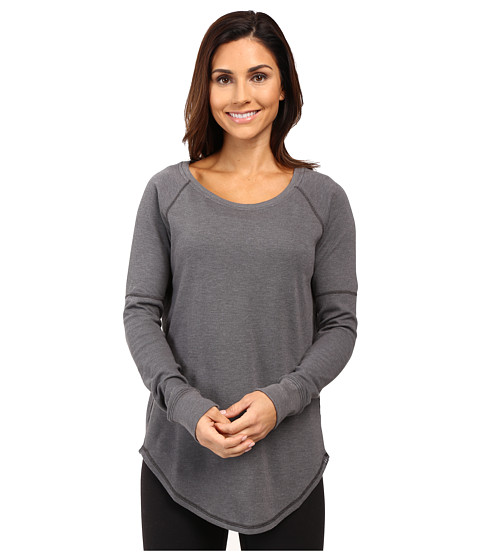 Under Armour UA Waffle Raglan Long Sleeve Shirt - Carbon Heather/Carbon Heather