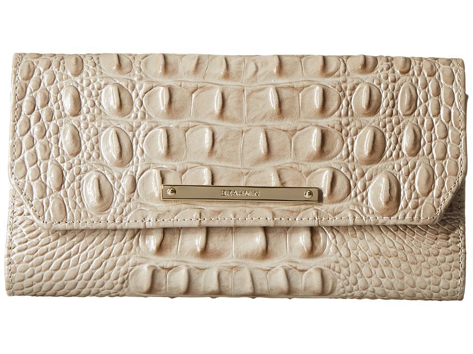 Brahmin Soft Checkbook Linen Wallet Handbags