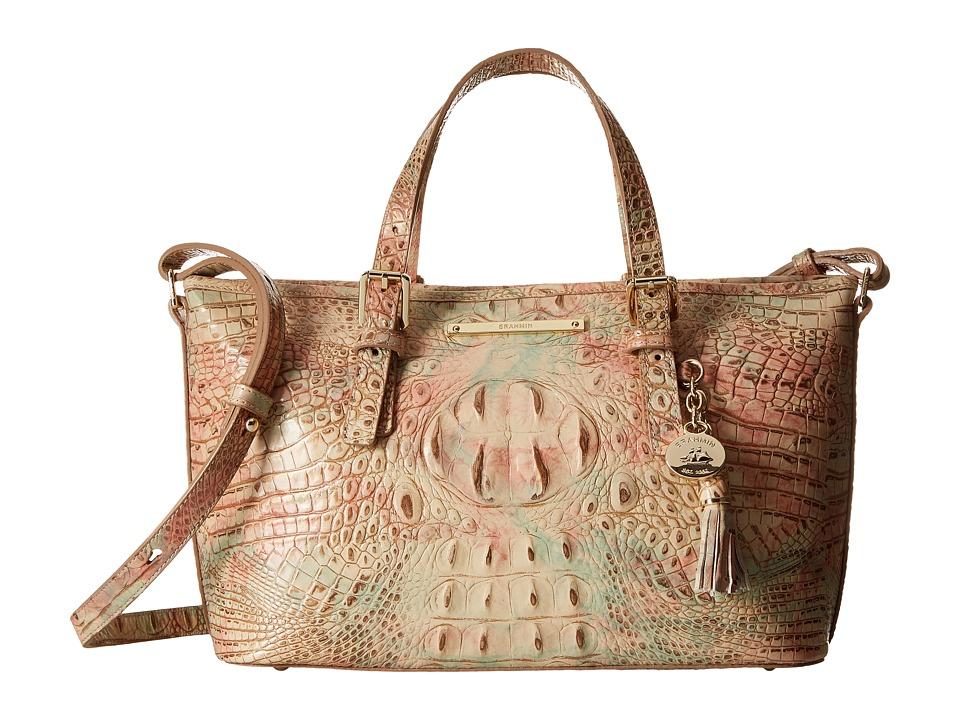 Brahmin Mini Asher Sandstone Satchel Handbags