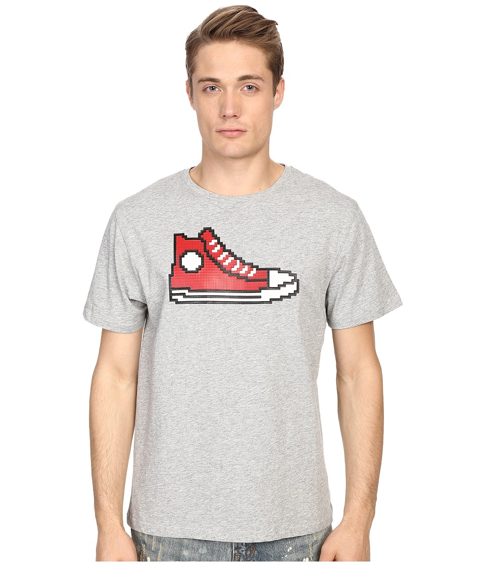 Mostly Heard Rarely Seen Red Hi Top Sneaker Nanoblock Tee Heather Grey Mens T Shirt