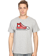 Mostly Heard Rarely Seen - Red Hi-Top Sneaker Nanoblock Tee