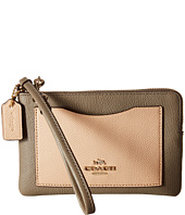 COACH - Color Block Corner Zip