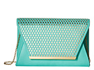 Jessica McClintock Rider Perforated Envelope Clutch (Mint/Gold)