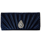Jessica McClintock Maren Satin Clutch (Navy)