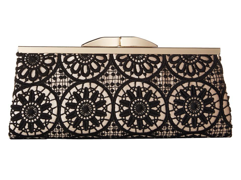 Jessica McClintock Sloan Crochet Framed Clutch Black/Champagne Clutch Handbags