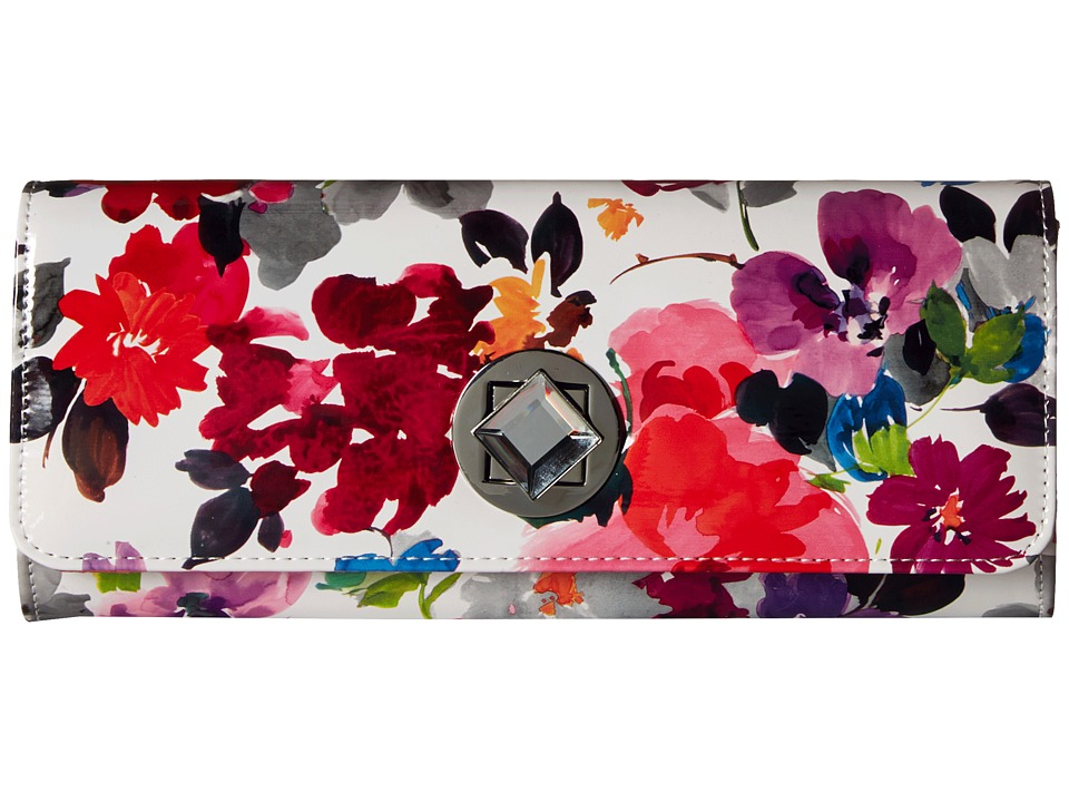 Jessica McClintock - Carmela Turnlock Clutch (Watercolor Floral) Clutch Handbags