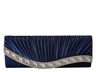 Jessica McClintock Lynn Satin Clutch (Navy)