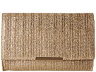 Jessica McClintock Nora Straw Clutch (Gold Straw)