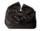Jessica McClintock Bow Satin Clutch (Black)