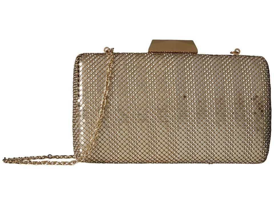 Jessica McClintock - Callie Stripe Mesh Minaudiere (Light Gold) Handbags