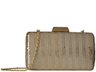 Jessica McClintock Callie Stripe Mesh Minaudiere (Light Gold)
