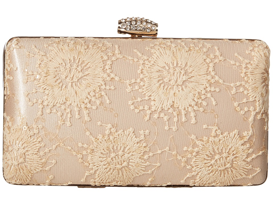 Jessica McClintock - Noelle Lace Minaudiere (Champagne) Handbags