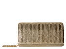 Jessica McClintock Cassie Stripe Mesh (Light Gold)