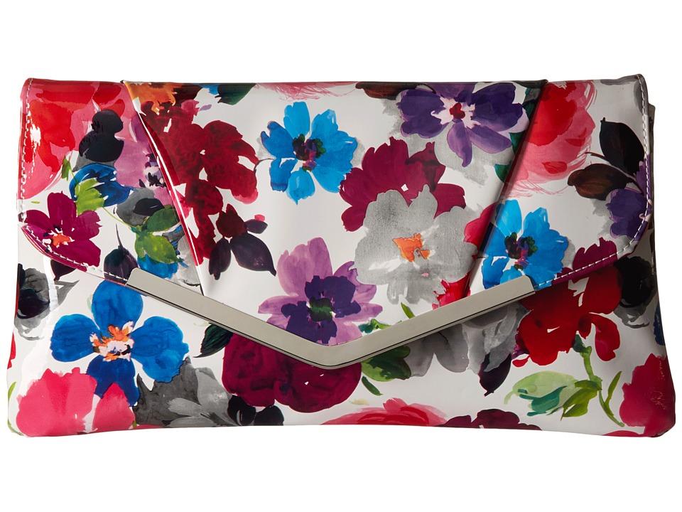 Jessica McClintock Arielle Envelope Clutch Watercolor Floral Clutch Handbags