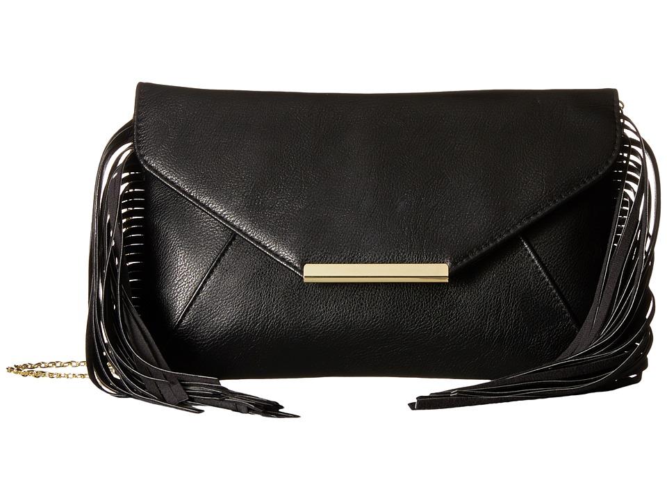 Jessica McClintock Allison Fringe Black Handbags