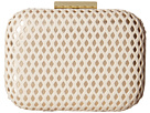 Jessica McClintock Roxi Perforated Minaudiere (Bone/Gold)