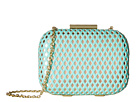 Jessica McClintock Roxi Perforated Minaudiere (Mint/Gold)