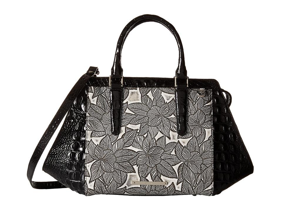 Brahmin Arden Satchel Silver Satchel Handbags