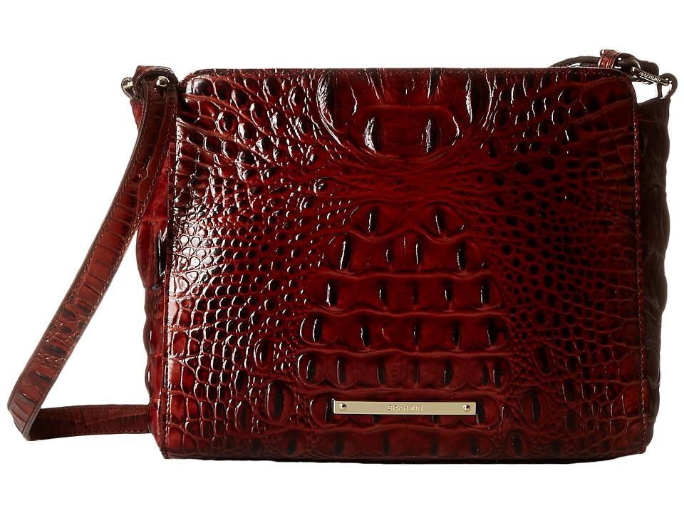 Brahmin Carrie Crossbody Pecan Cross Body Handbags