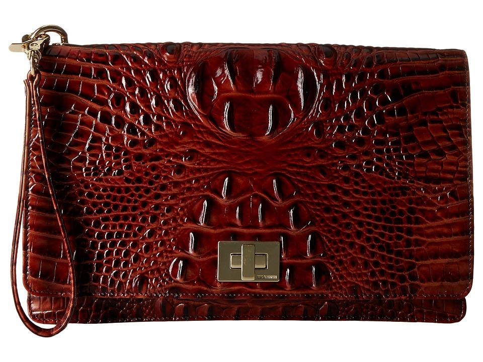 Brahmin Lily Pouch Pecan Handbags