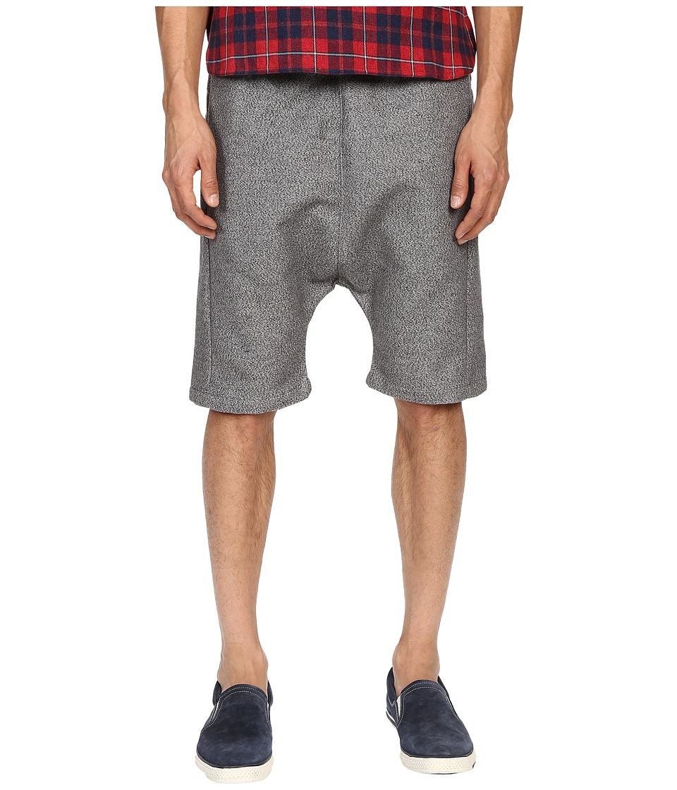 Mostly Heard Rarely Seen Double Faced Drop Crotch Shorts Heather Grey Mens Shorts