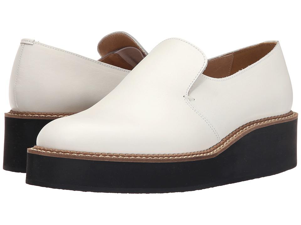 Ys by Yohji Yamamoto Platform Slip On Off White Womens Slip on Shoes