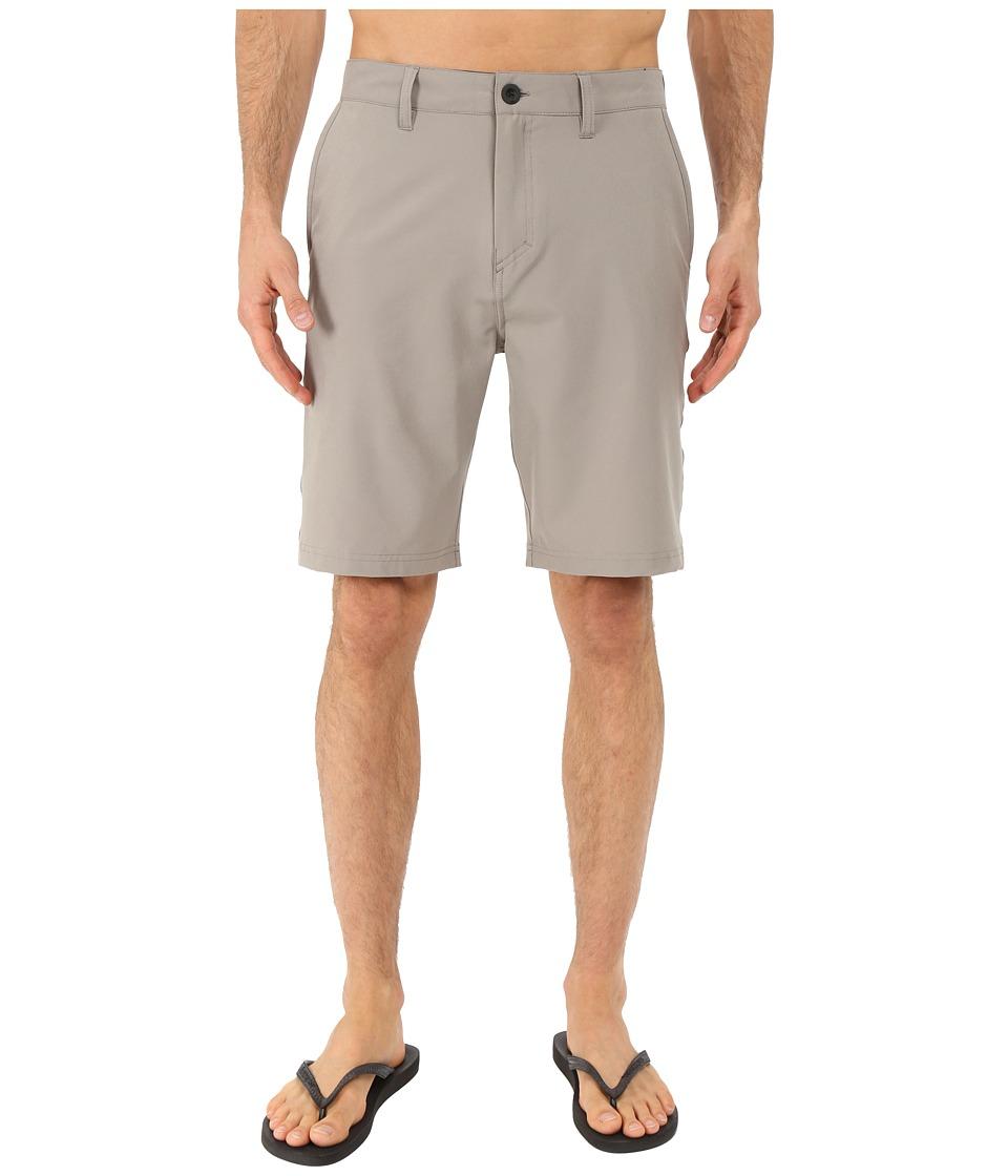 Quiksilver Every Solid Amphibian 21 Walkshorts Steeple Gray Mens Shorts
