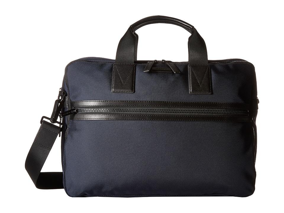 Michael Kors Parker Ballistic Nylon Large Briefcase (Navy) Briefcase Bags