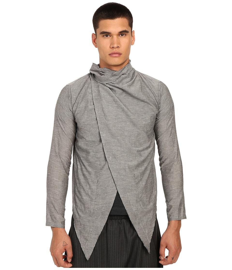 PRIVATE STOCK The Atilla Cape Light Grey Mens Clothing