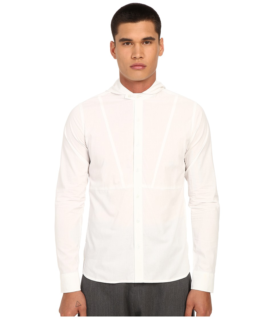 PRIVATE STOCK The Forthcoming Shirt White Mens Long Sleeve Button Up