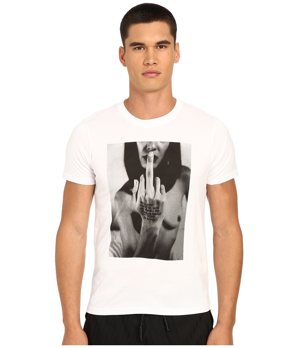 PRIVATE STOCK The Finger T Shirt White Mens T Shirt