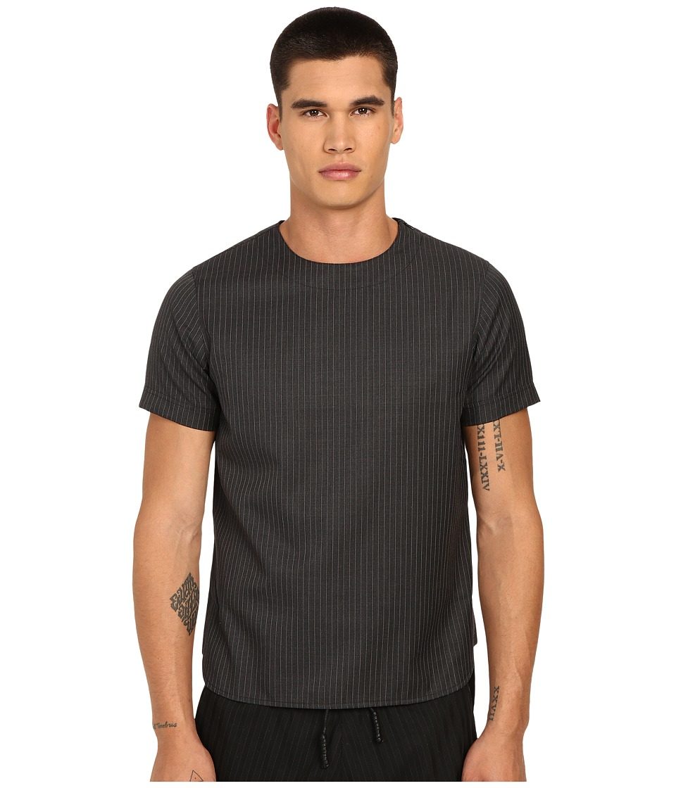 PRIVATE STOCK The Parker T Shirt Grey Pinstripe Mens T Shirt