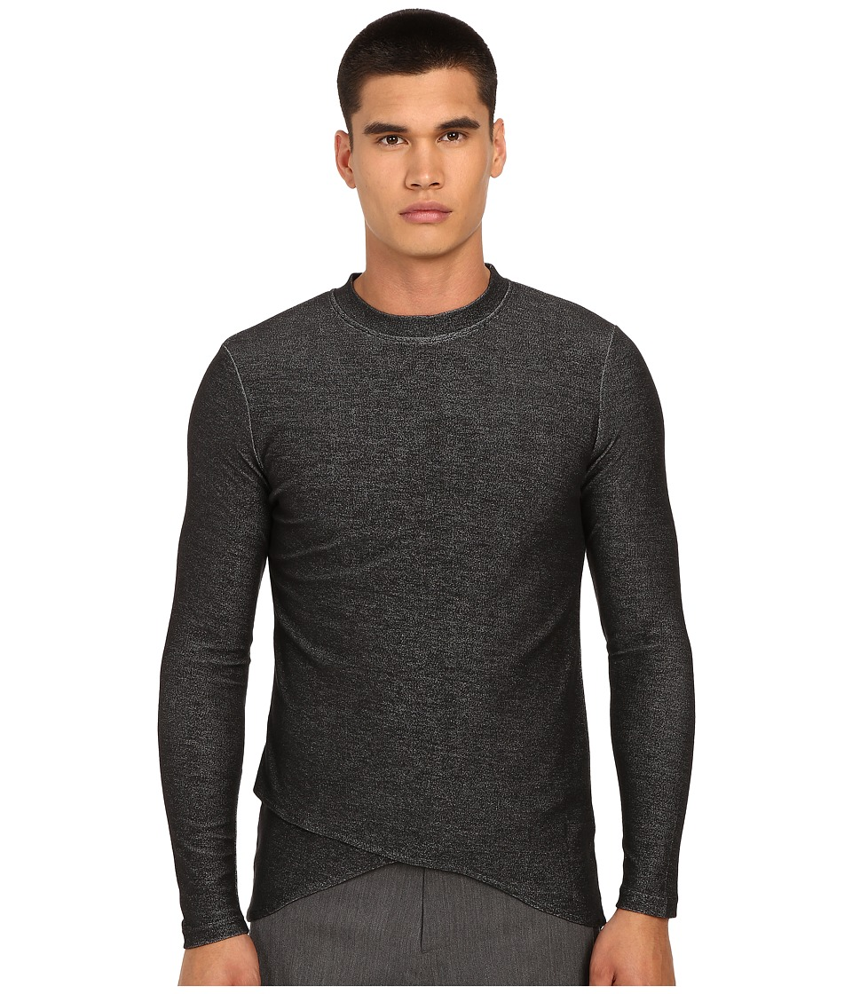 PRIVATE STOCK The Mael Long Sleeve T Shirt Grey Mens T Shirt